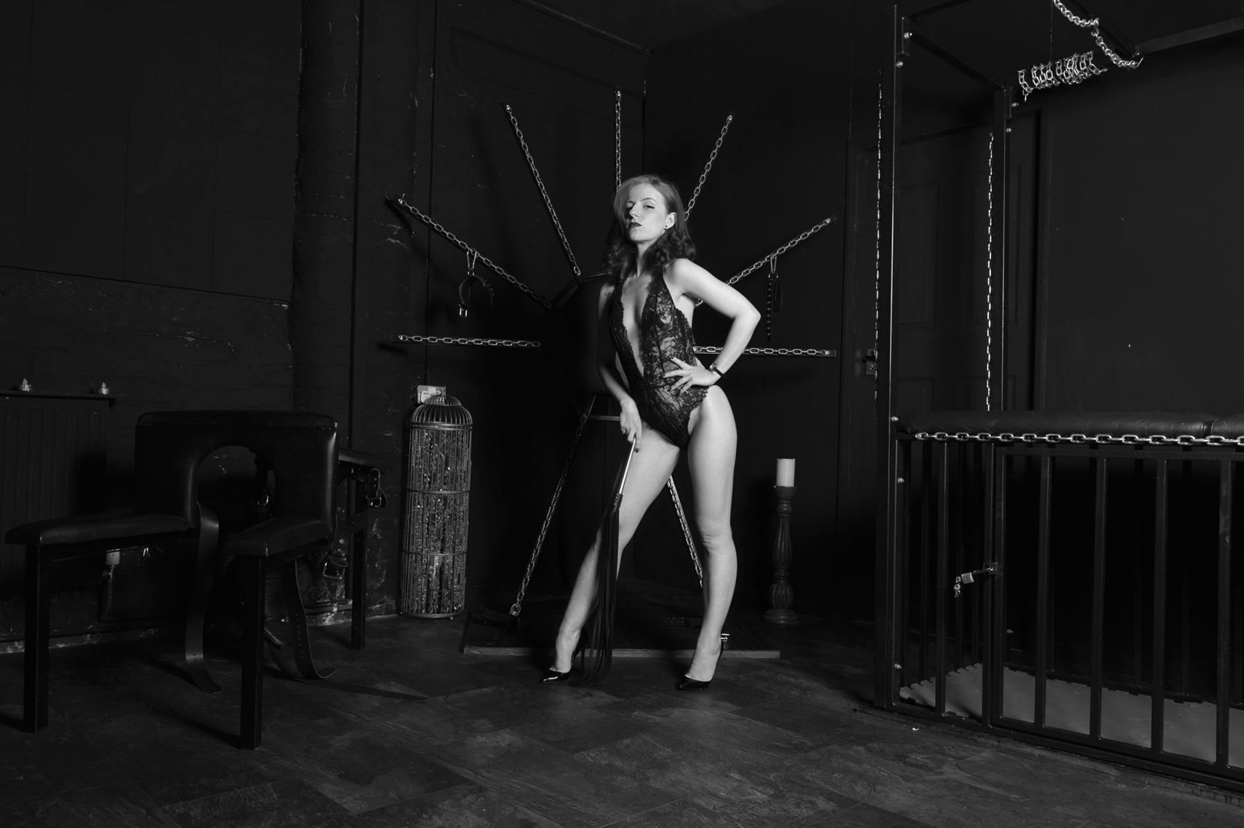 You have to be locked up in chastity now femdom dominatrix
